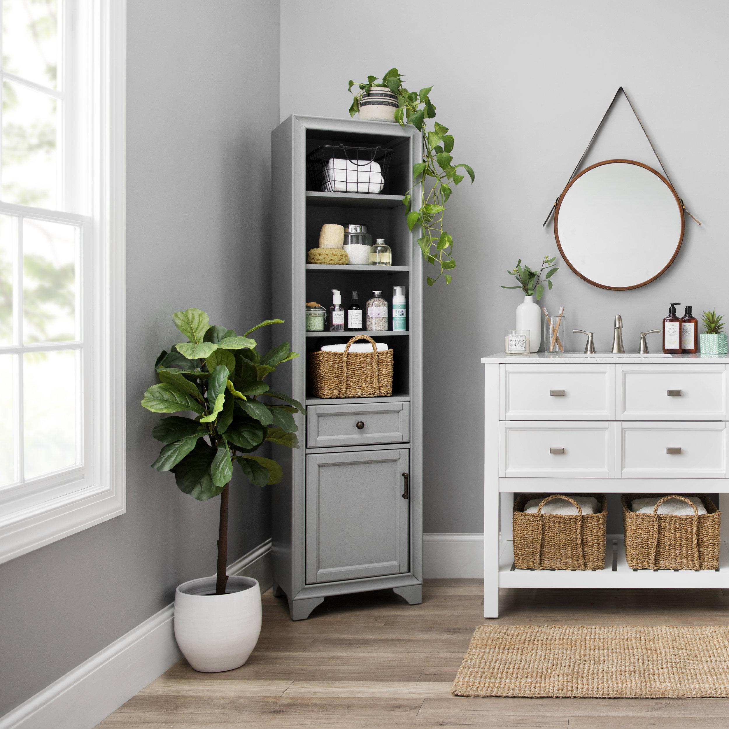 Kirkland's -  Tyler Vintage Gray Storage Cabinet
