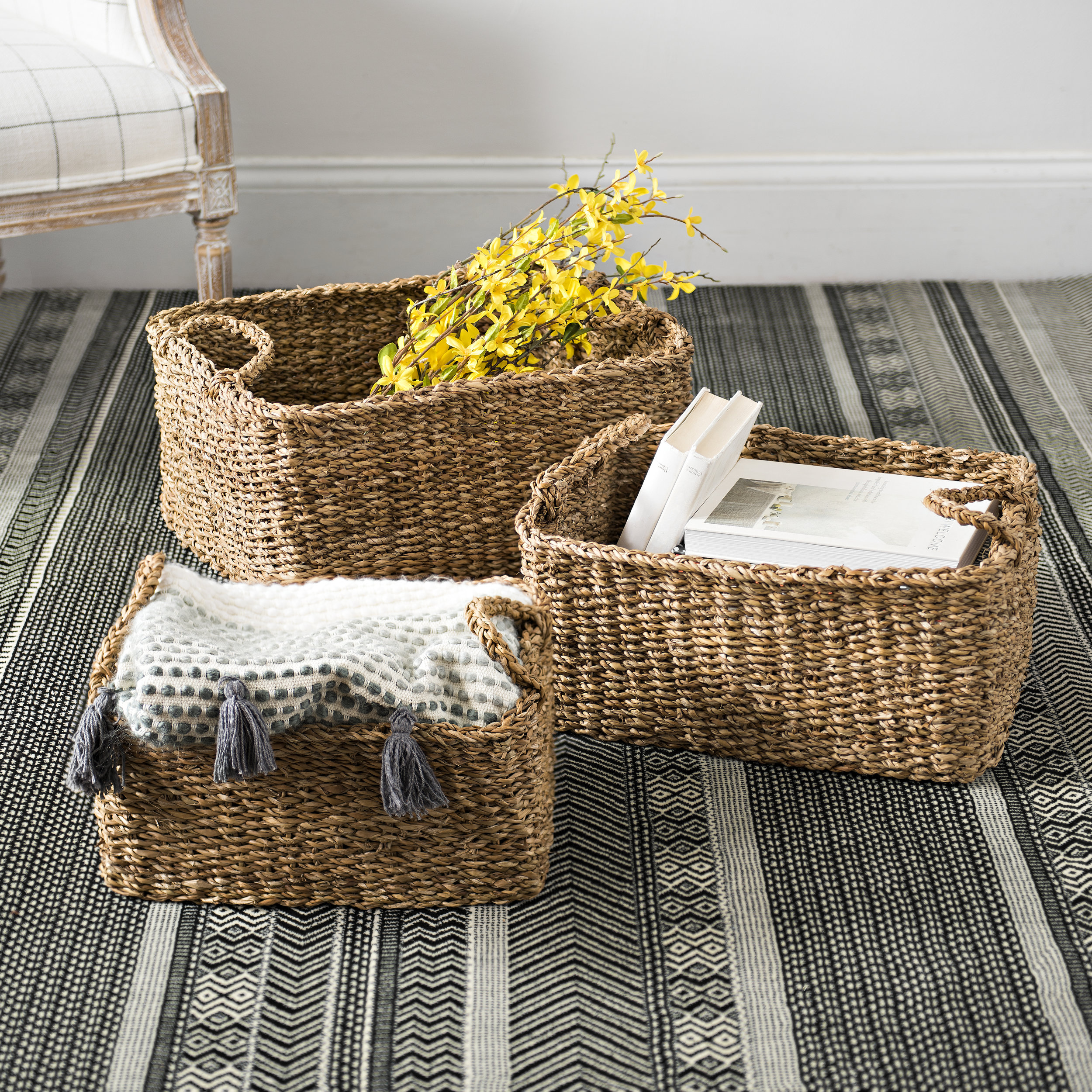 Kirkland's - Woven Storage Baskets
