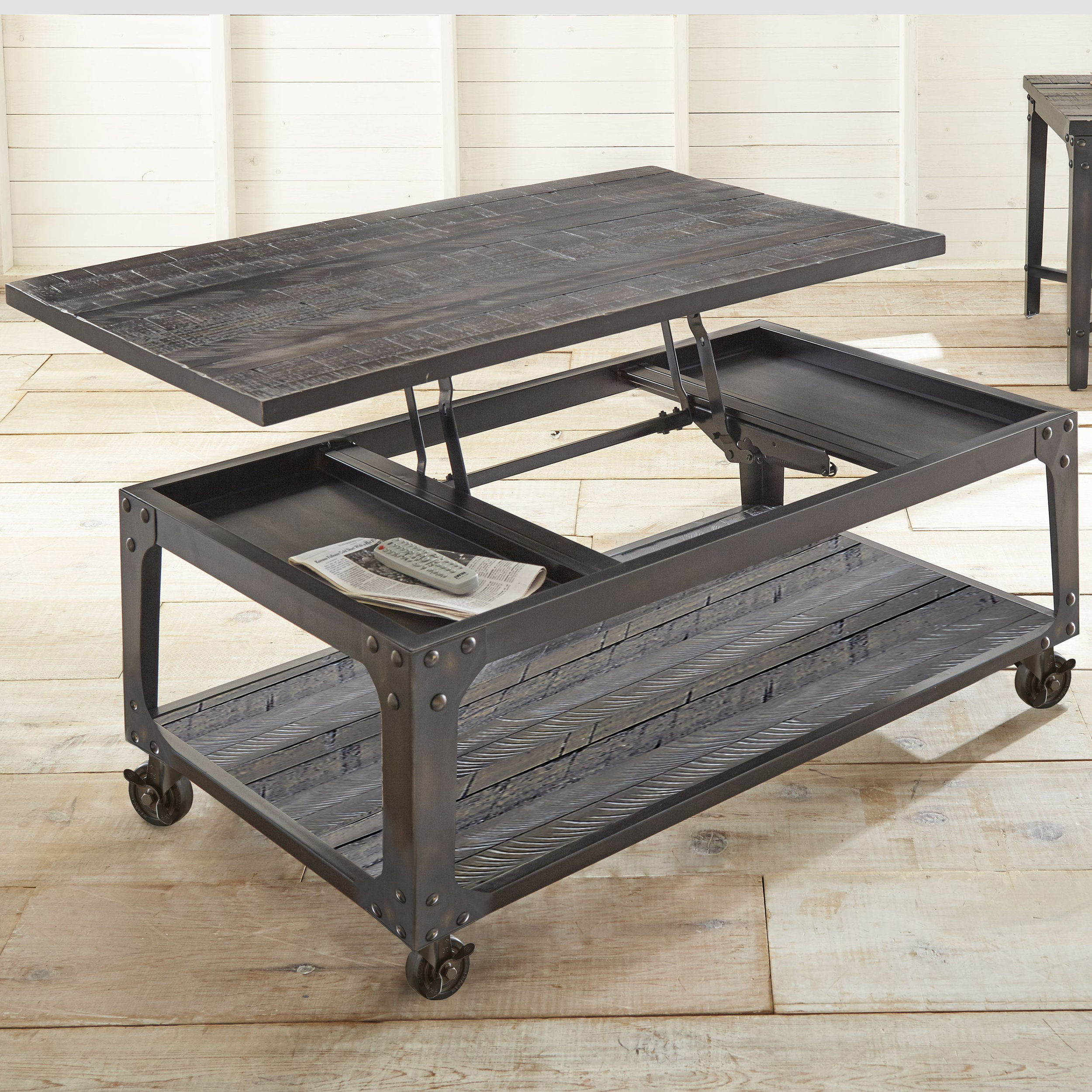 Kirkland's - Sheldon Lift Top Coffee Table with Casters