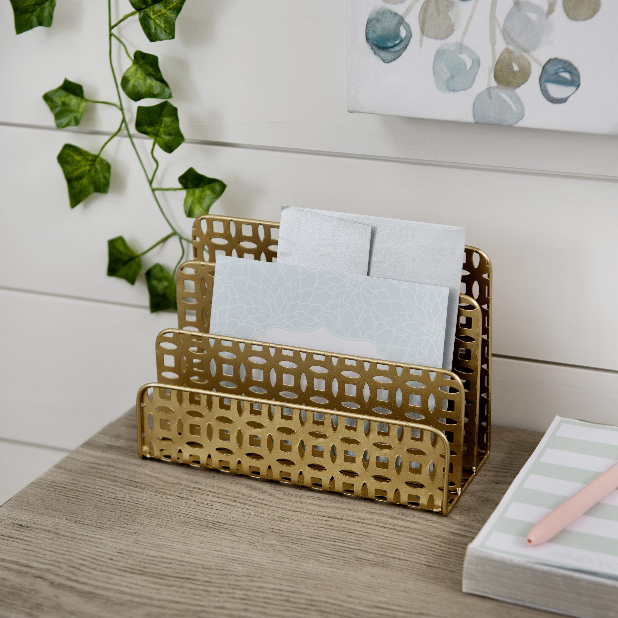 Kirkland's - Gold Desk Letter Holder