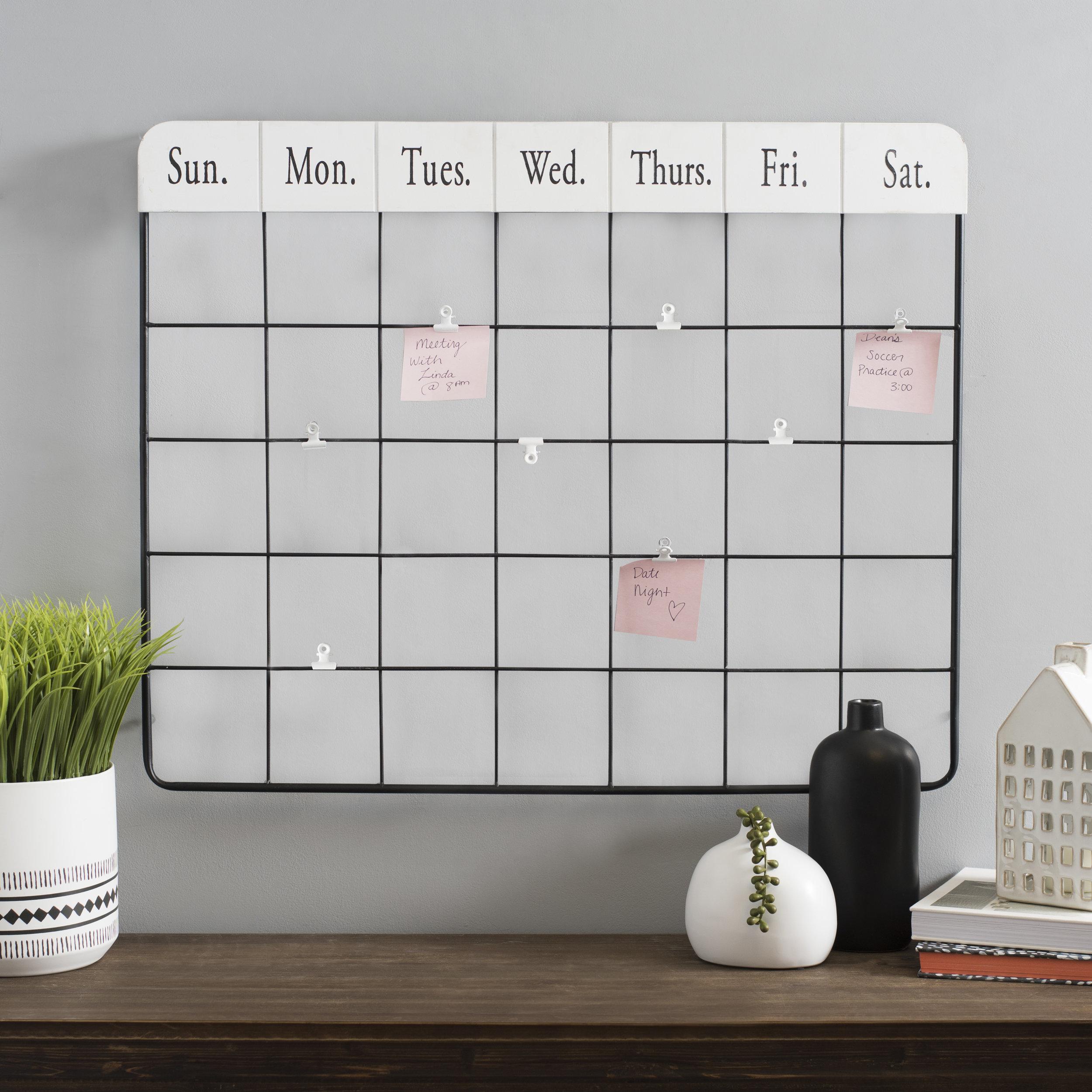 Kirkland's - Metal Calendar Memo Clip Wall Organizer