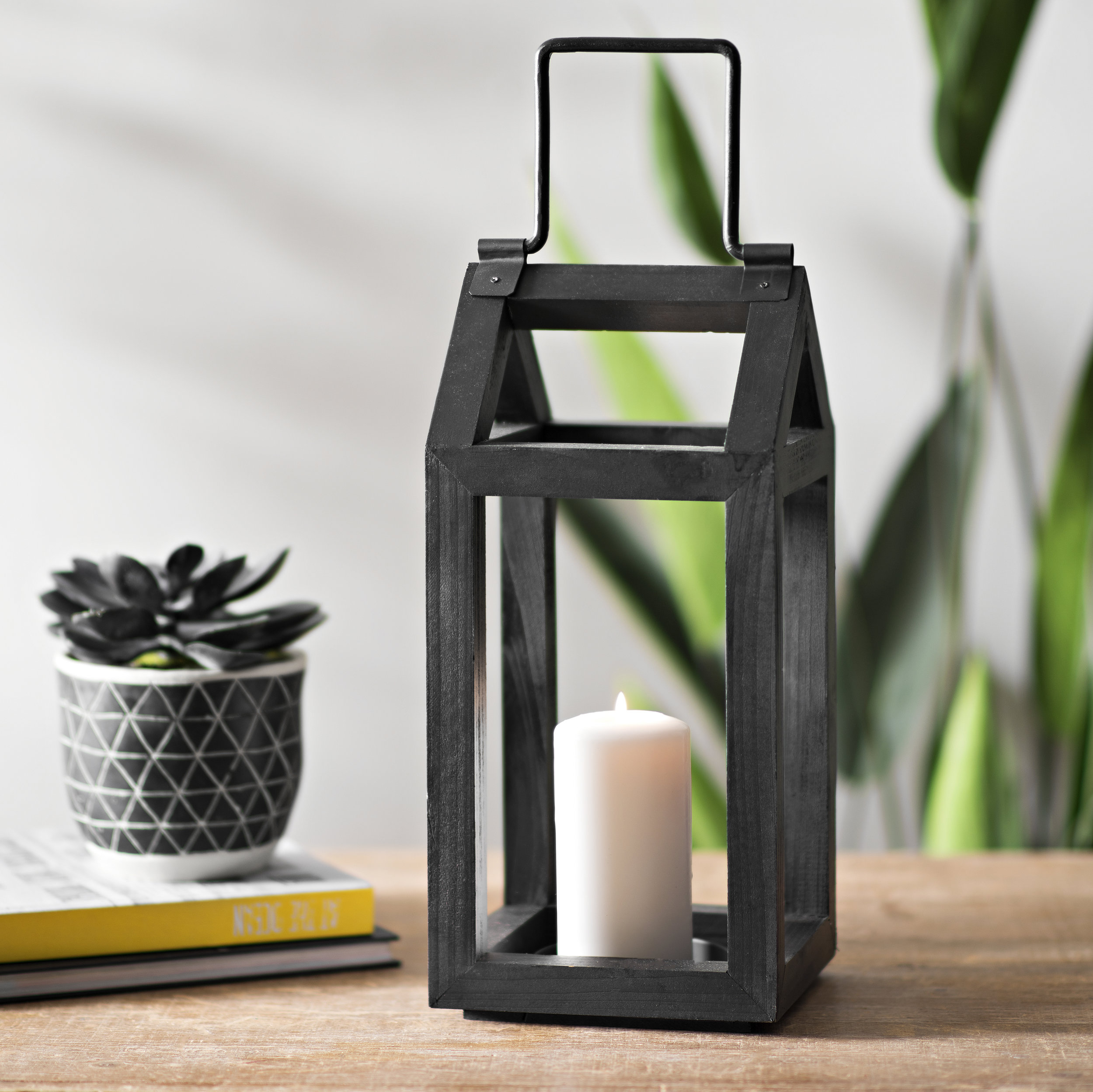 Kirkland's - Black Wooden Lantern