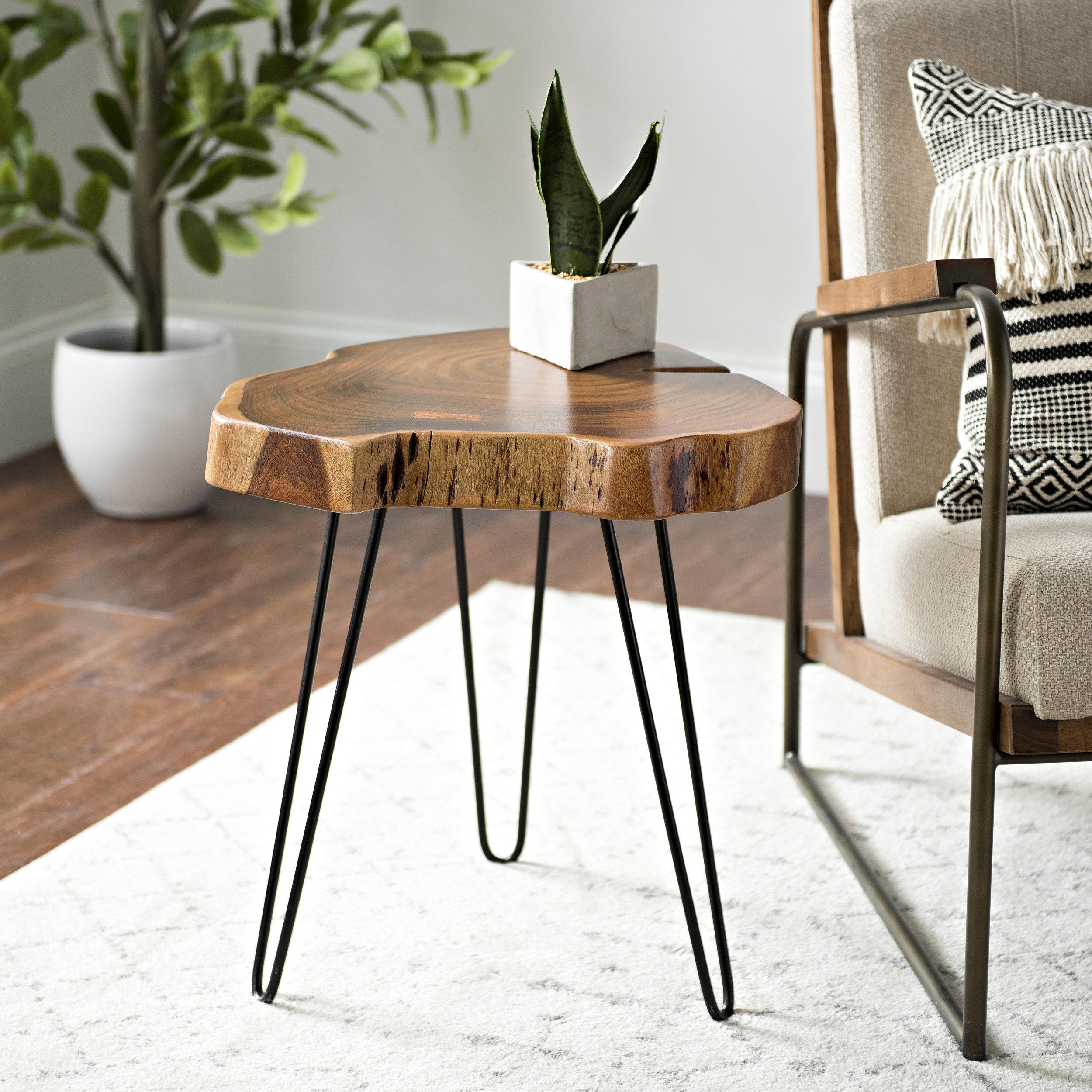 Kirkland's - Natural Acacia Wood Side Table