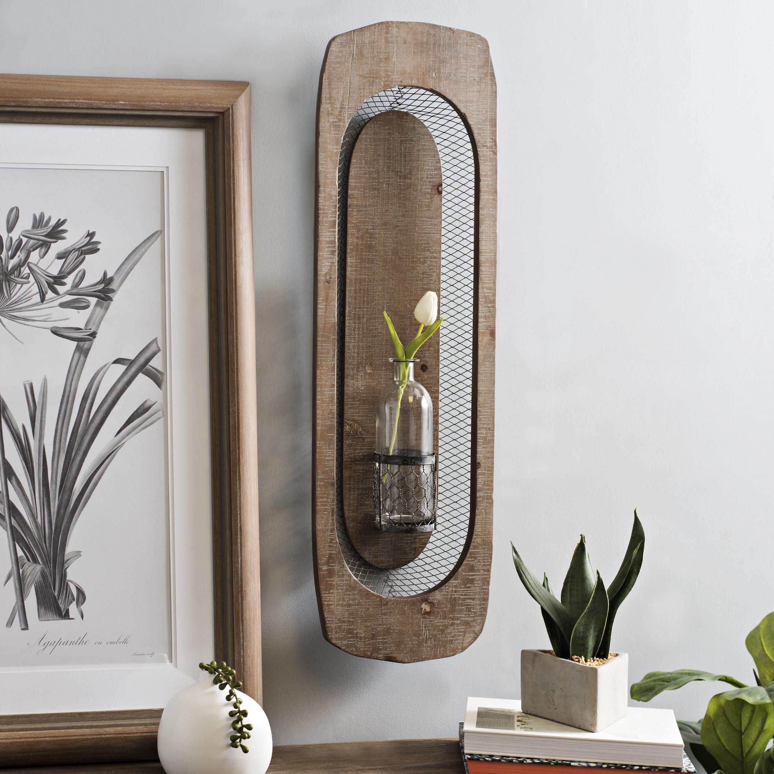 Kirkland's - Wooden Boat Wall Vase