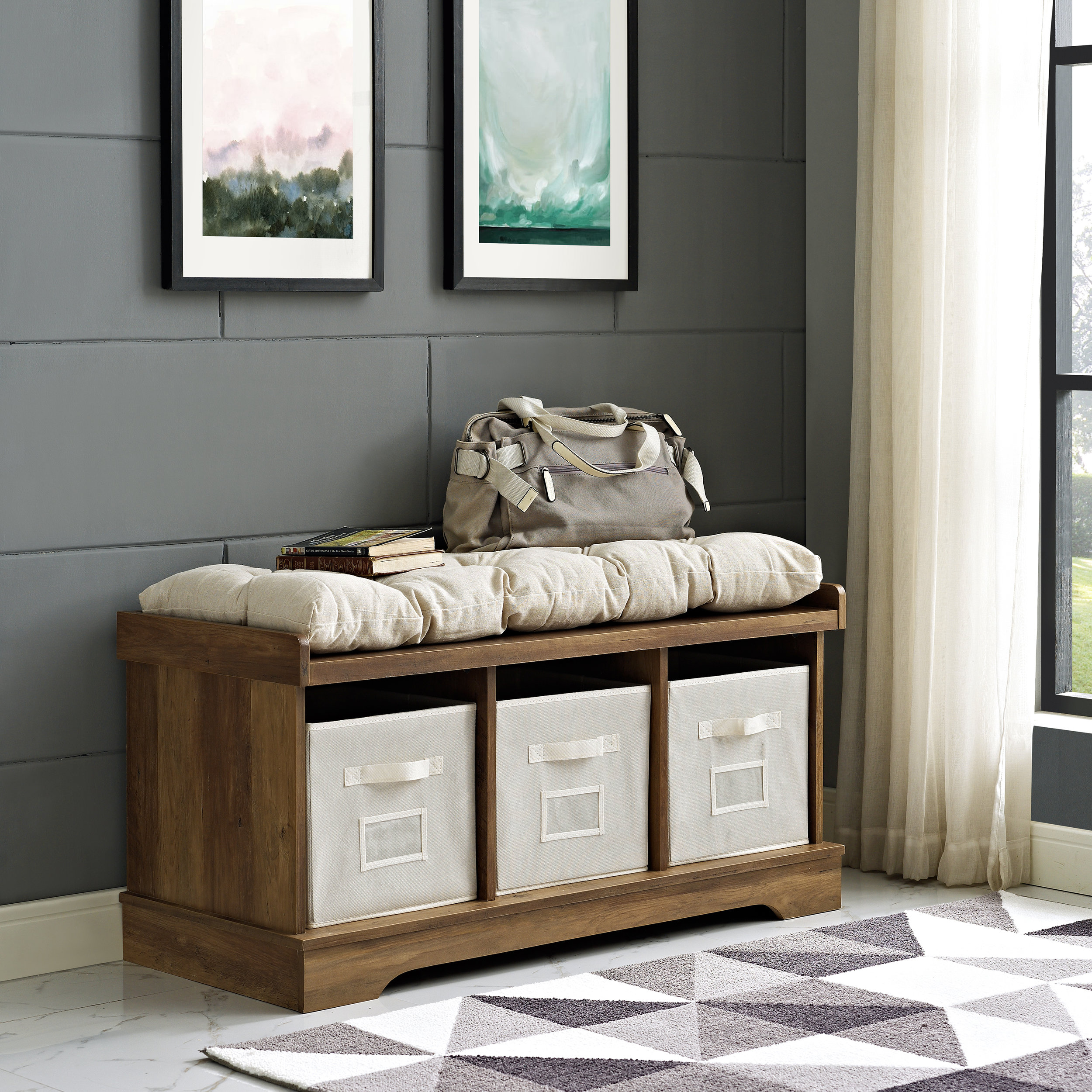 """""""Benches are a must in any household! They are so versatile and perfect for storage. I need all the shoe storage I can get!"""""""