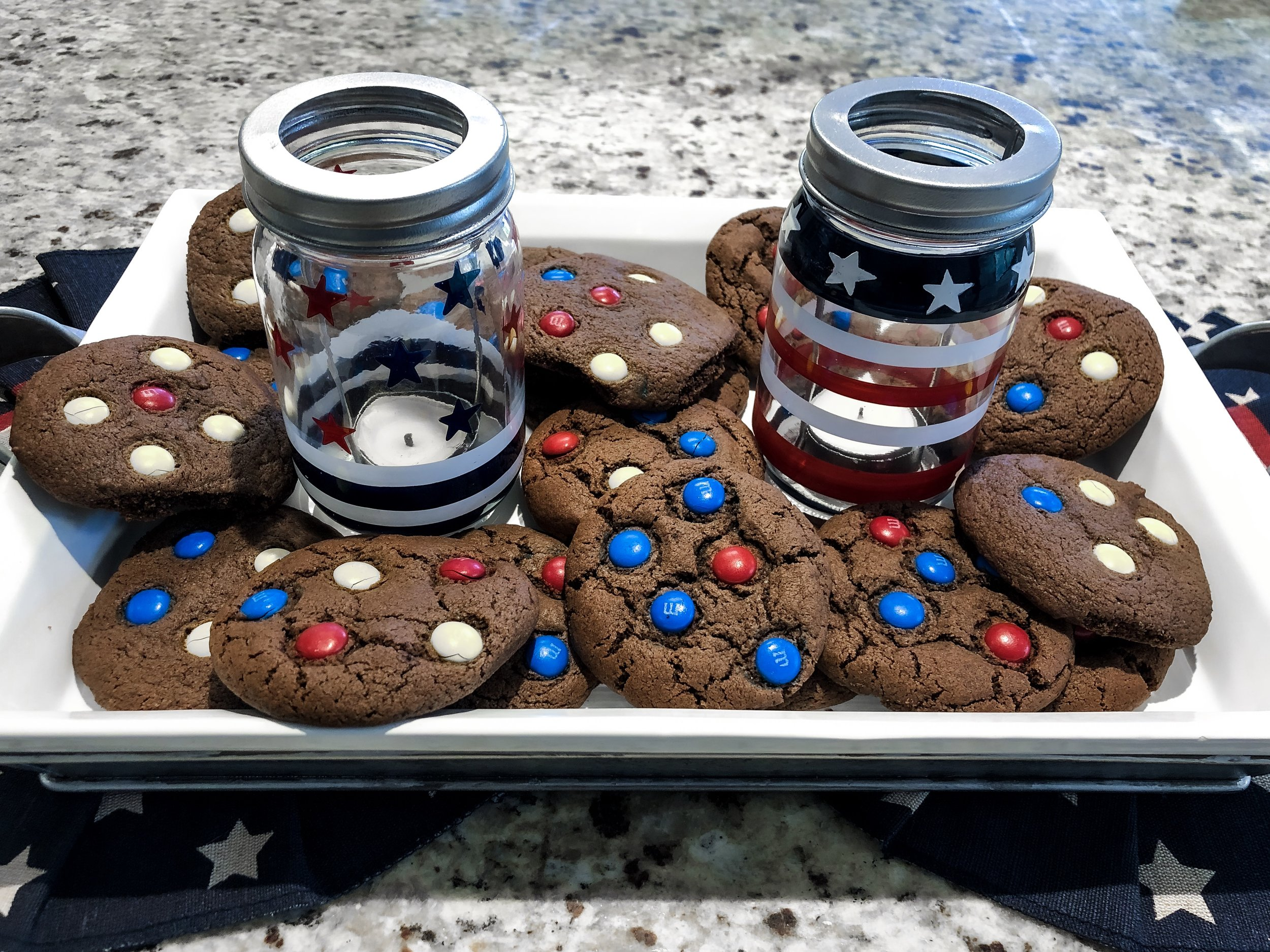 Kirkland's - Easy Red, White & Blue Cookies for July 4th