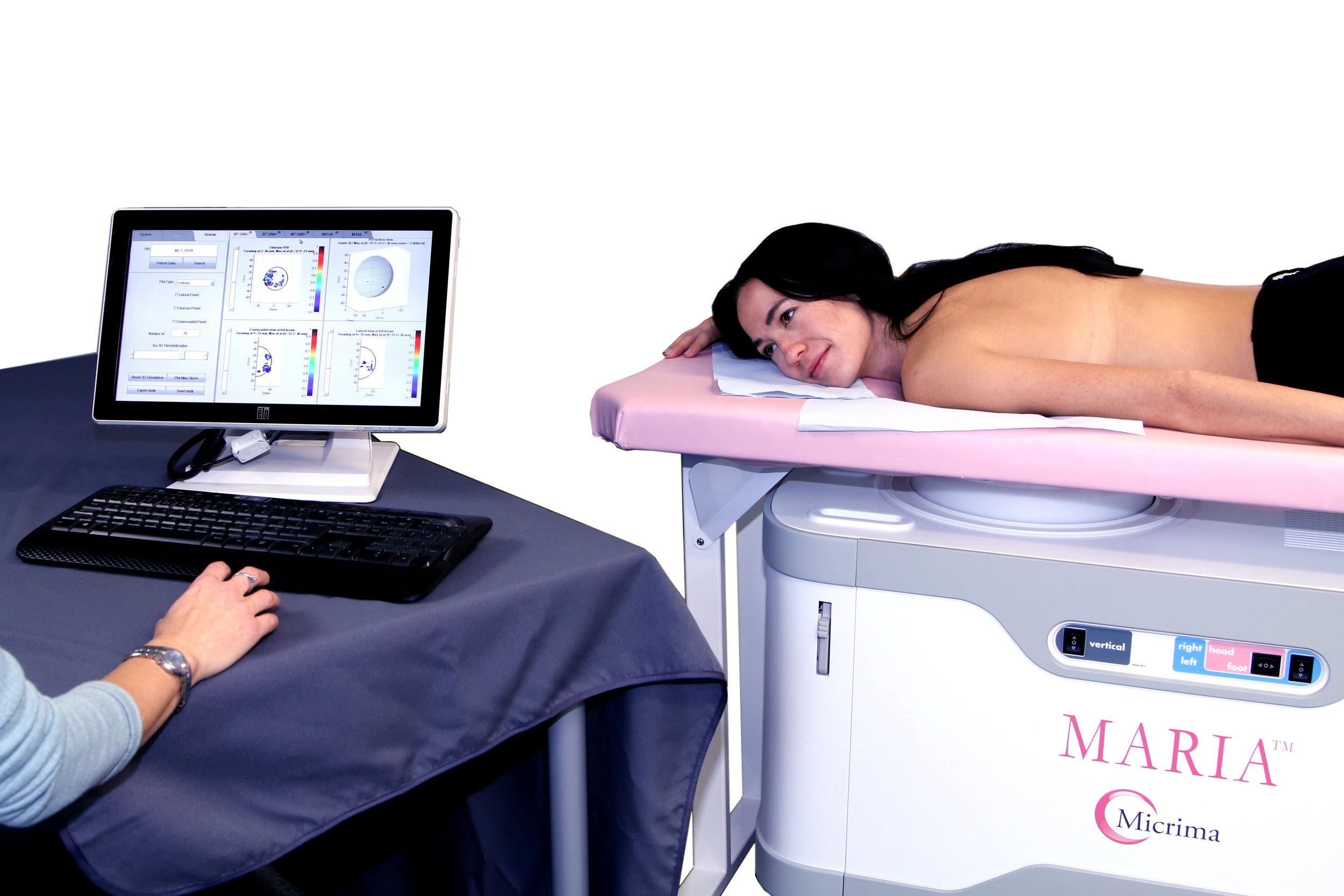 The MARIA® breast cancer detection system being developed by Micrima