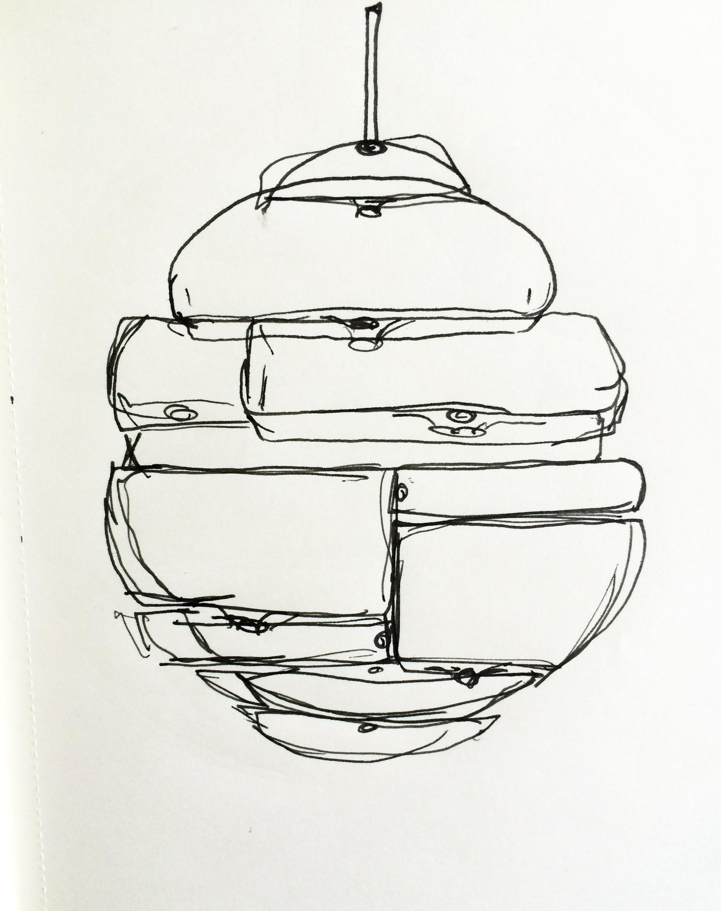 Shop Sketch of 'Glass Building Blocks'