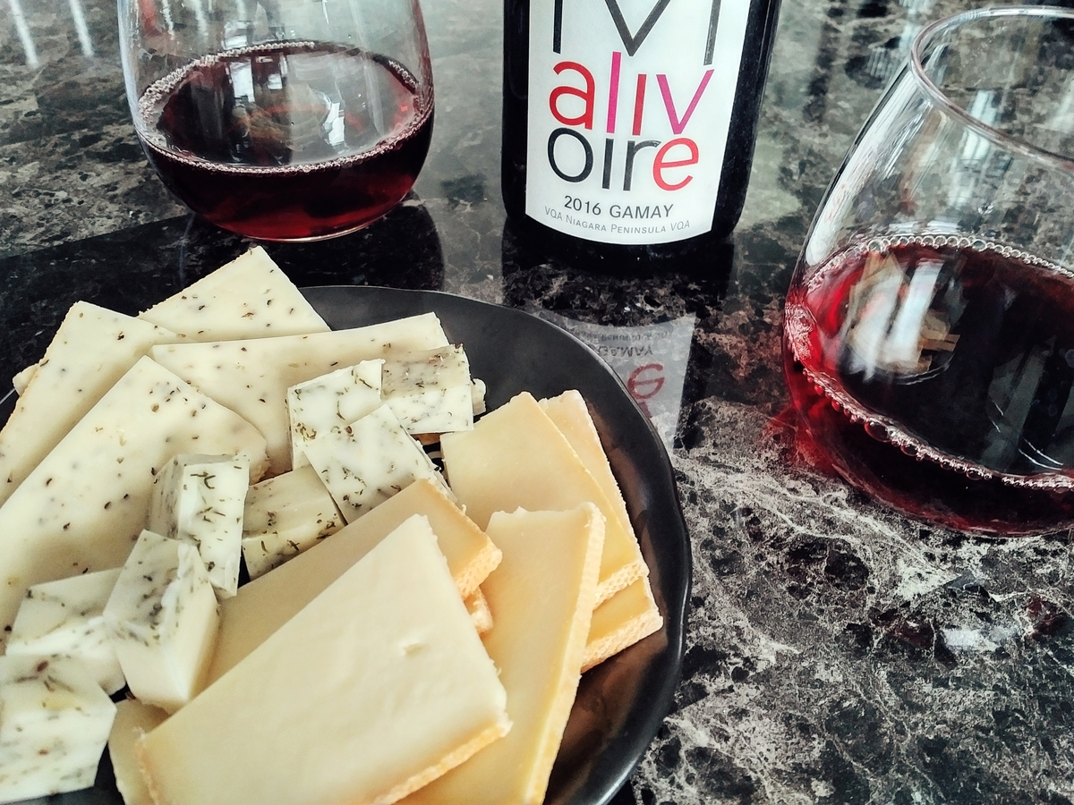 Local wine & local cheese. Very. Good.