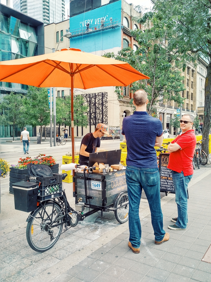 But wait. A doubles vendor? On the streets in Toronto? Well yes!
