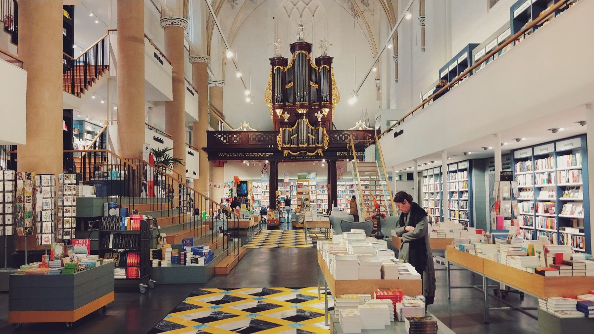 Bookstores in churches. Because.