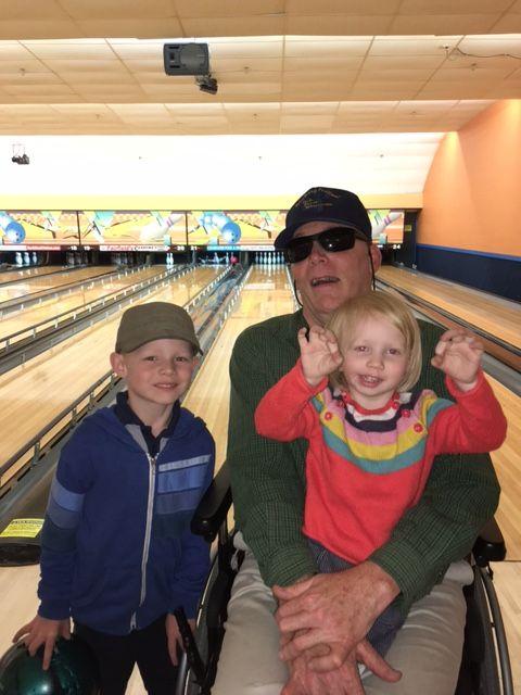 Scott enjoying a day bowling with friends
