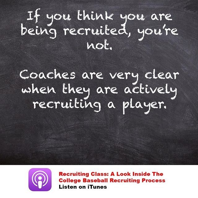 The recruiting process is much more black and white than you think. When families try to read into the gray area, they become frustrated.  You'll know if you are being recruited. There is no guessing.