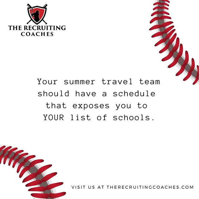 Not every schedule fits YOUR needs.  Discuss with your coaches which schools have been at these events in the past. Do they match up with your list? #recruitingclass #recruitingcoaches  #ncaabaseball #jucoball #collegepitcher #collegebaseball #baseballrecruiting #collegeprospect #classof2022 #naiabaseball #d2baseball #baseballathlete #recruiting #d1baseball #d3baseball #athletictraining #toprecruit #sportsrecruiting #athlete #dirtbagswag #classof2021 #classof2020
