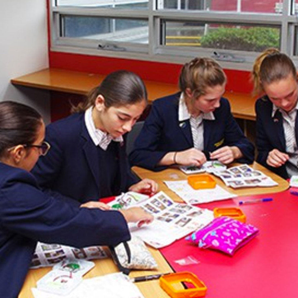 Students from Beaconhills College- Melbourne, assembling SolarBuddy lights.