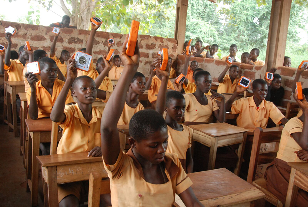 Students in Ghana extremely happy to receive their SolarBuddy lights and be able to study in a safe environment.