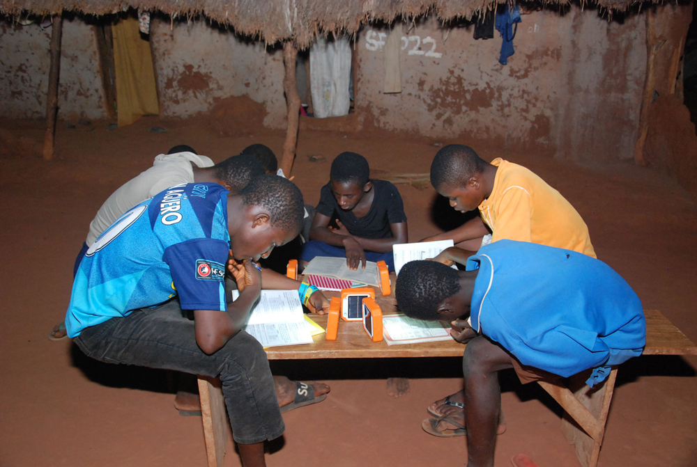 Students studying in a safe environment at night for the first time ever, what an amazing day!