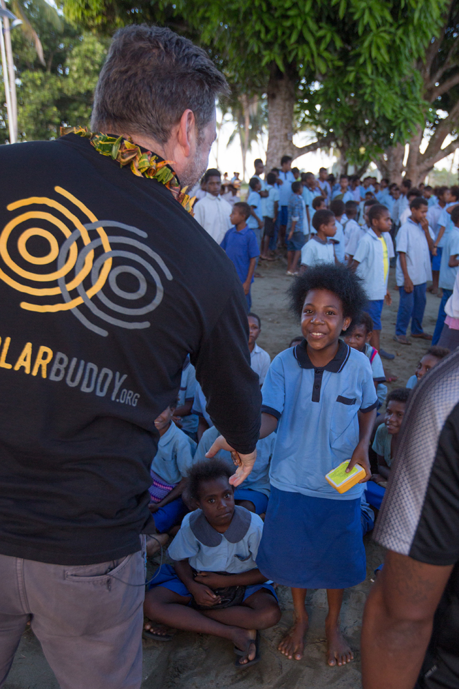 Their faces are the reason we do what we do! Happy children in PNG receiving their lights.