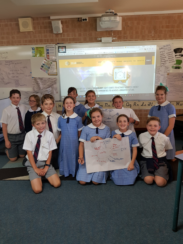 Students in Australia coming up with reasons to put forward to their principal to why they should take part in the SolarBuddy program. Entrepreneurs in the making!