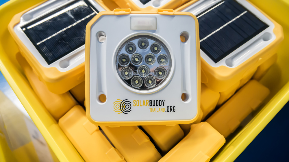 Close up of the SolarBuddy light. How amazing is it that something so small can make the world of difference?