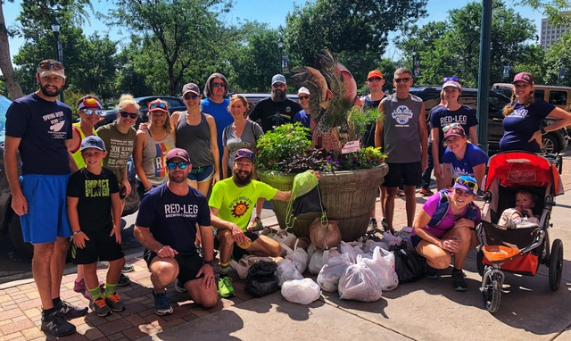 Community cleanup promoted by the Barr Trail Mountain Race