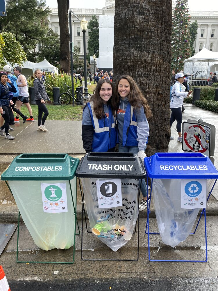 Green Team Volunteers help visitors properly sort their waste into three streams to maximize diversion of materials. 77 percent of the waste generated during the 2019 event weekend was diverted from the landfill.