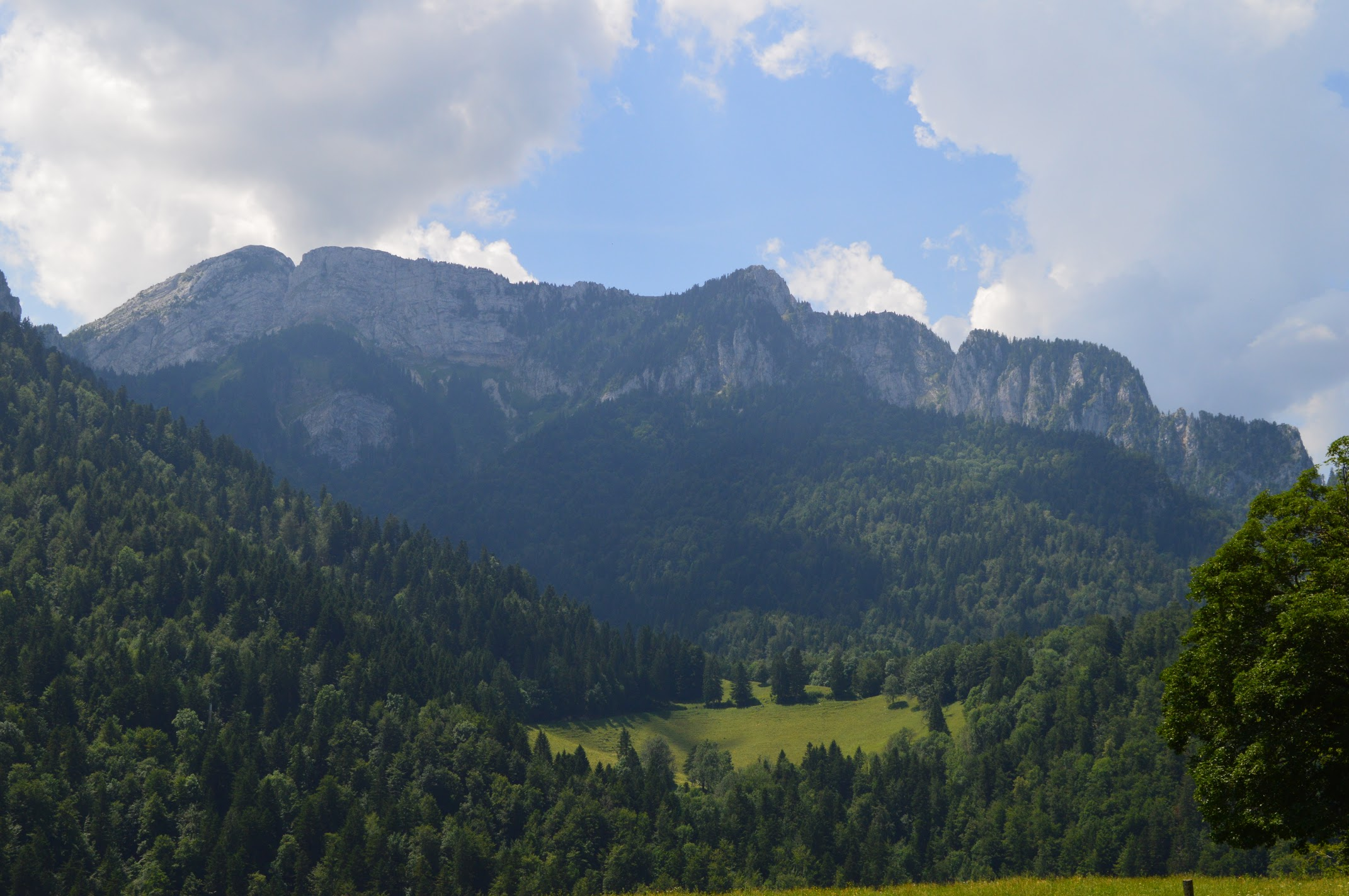 View of the mountains from the Museum of the Grand Chartreuse.