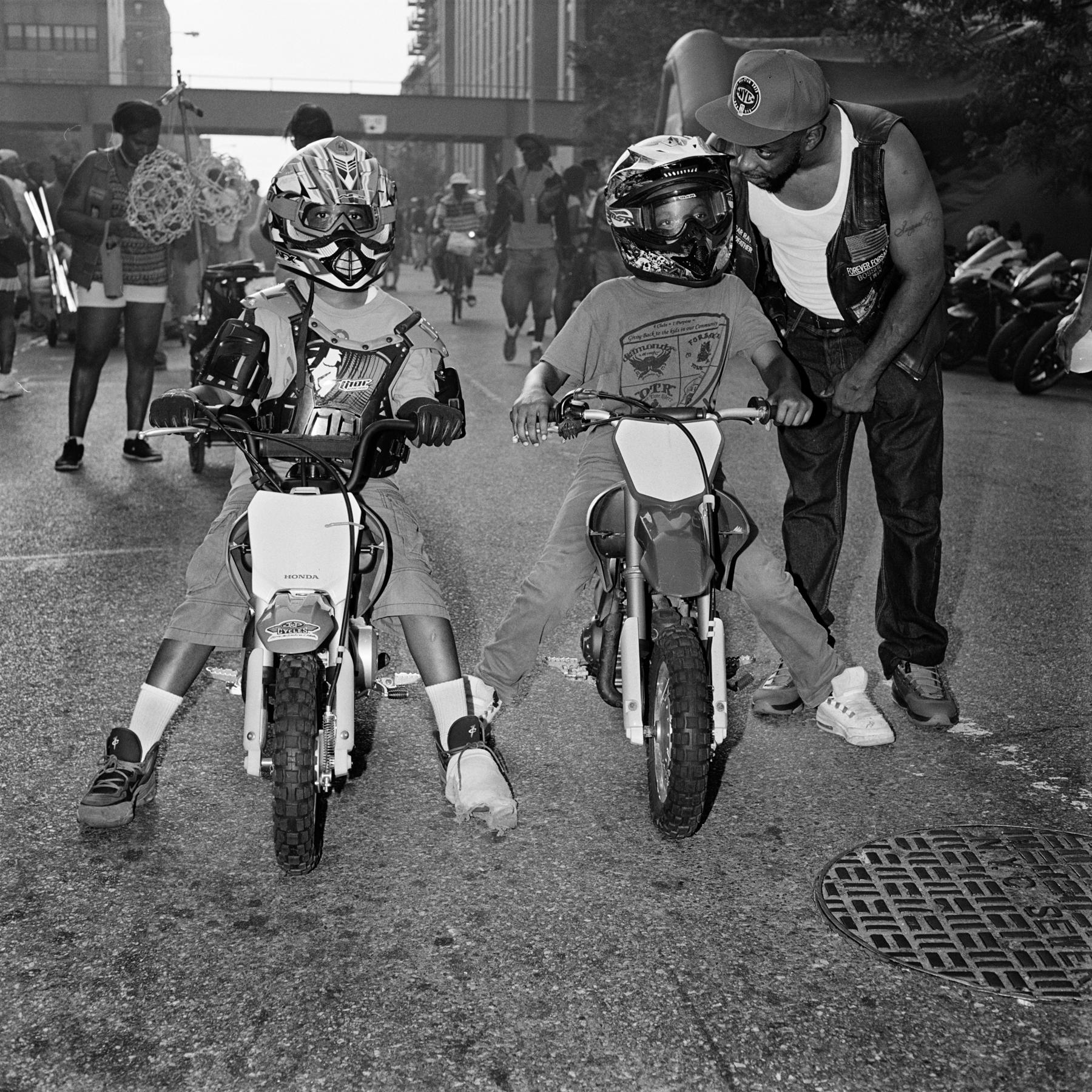 Little dirt bikers, Brooklyn, 2015