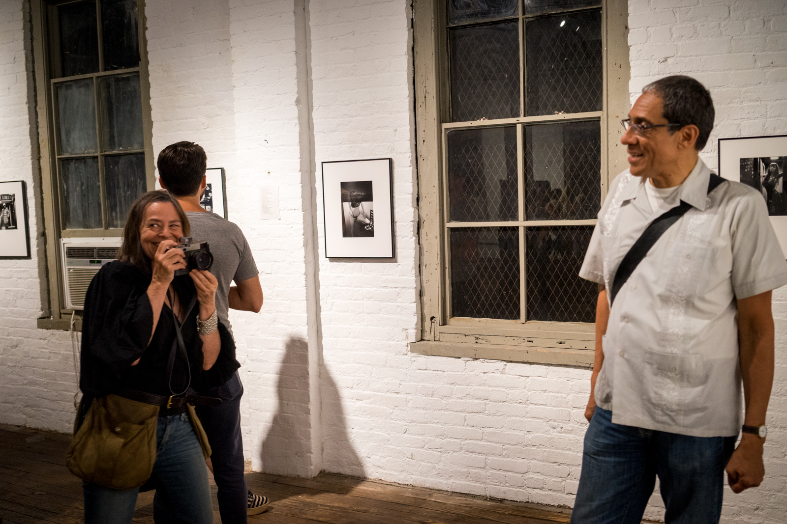 """Favorite photographers Donna Ferrato & Joseph Rodriguez- at """"Rear Windows"""" featuring  Girl Under Glass  at the Invisible Dog Gallery, Brooklyn 2015"""