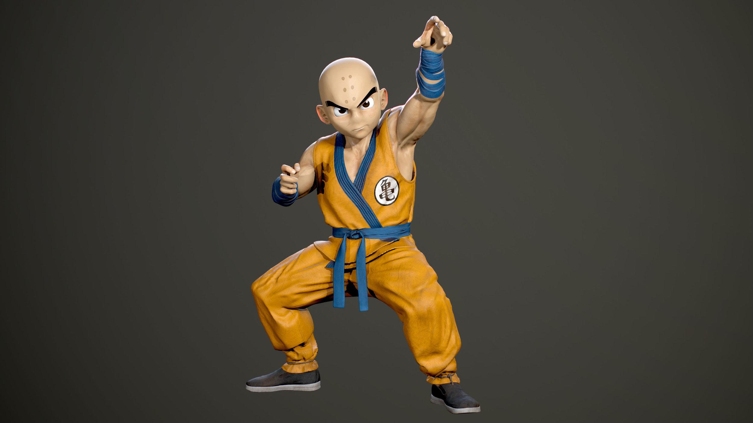 3D Character design - Krillin 02.jpg