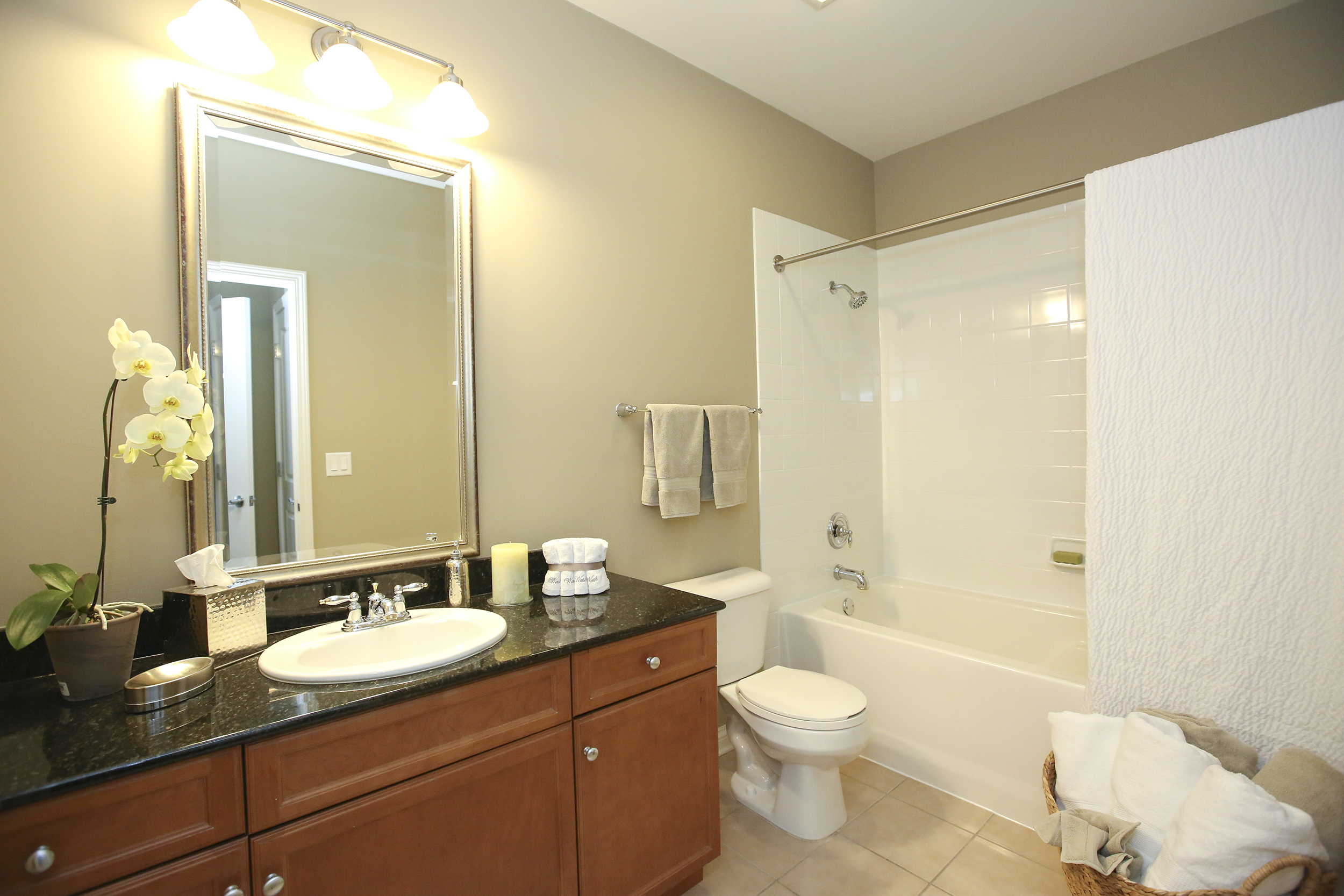 Soaking tubs with ceramic tile