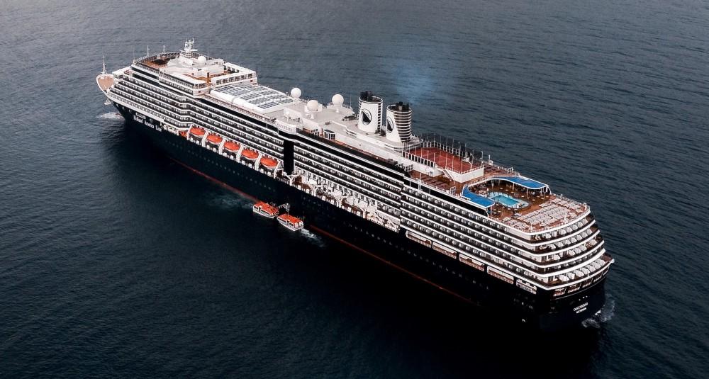 A Holland America ship in the Dominican Republic.