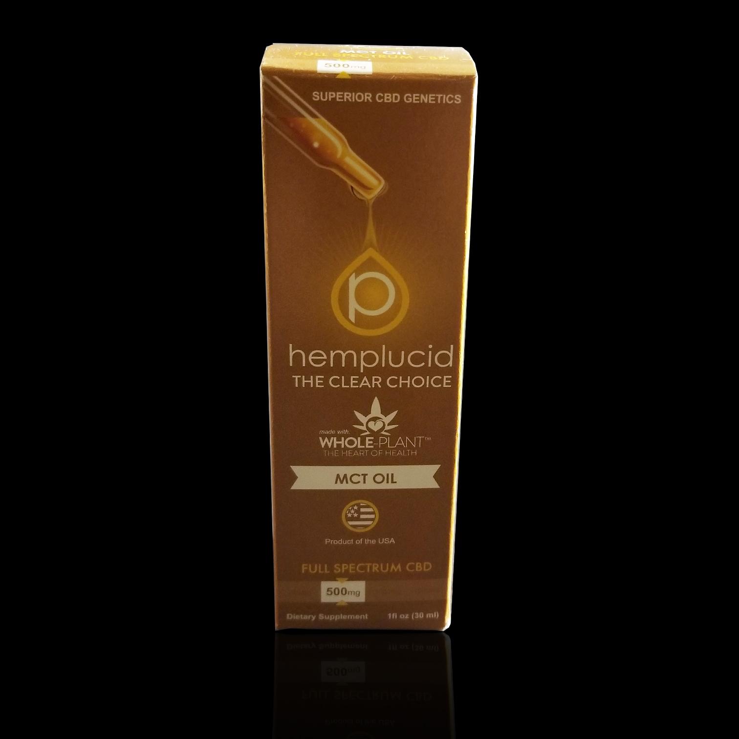 HEMPLUCID  – MCT Oil, Dietary Supplement CBD: 500mg