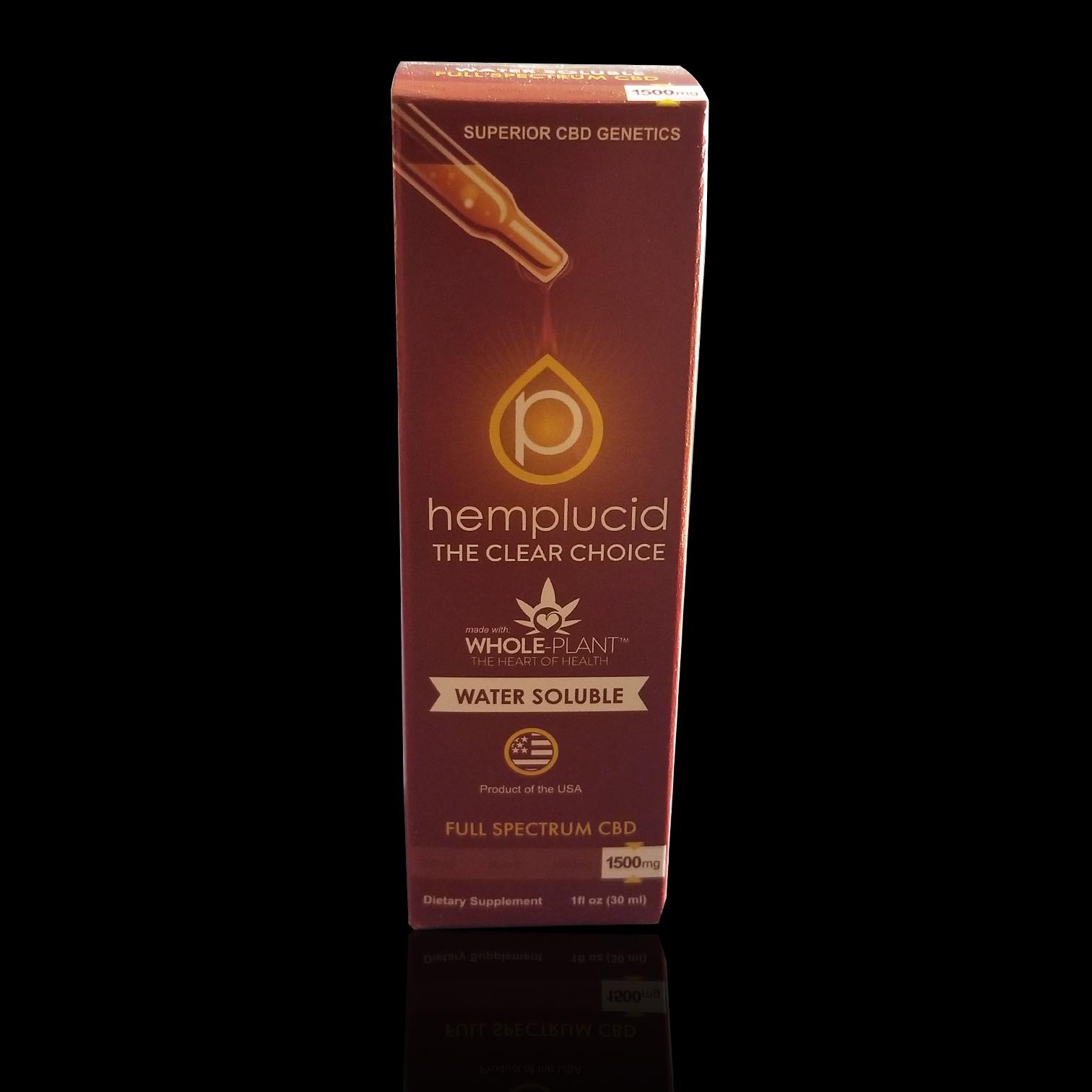 HEMPLUCID  – Water Soluble, Dietary Supplement CBD: 500mg