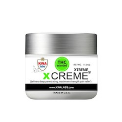 Sootheen THC  - Xtreme X-Creme  Extremely effective tropical cream. For use on stiff muscles, bruises and painful joints. Indicreme has a very pleasant, fresh spa aroma and disappears into the skin without greasiness.   Medical Conditions:  Back Pain, Body Pain, Fibromyalgia, Inflammation, Joint Pain, Migraine, Muscle Pain, Muscle Spasms, Neck Pain   Suggested retail  - $45 each