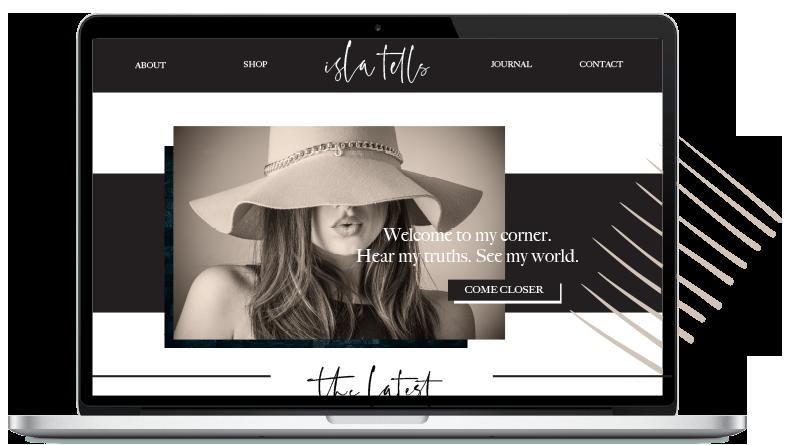 unique website design and personal branding
