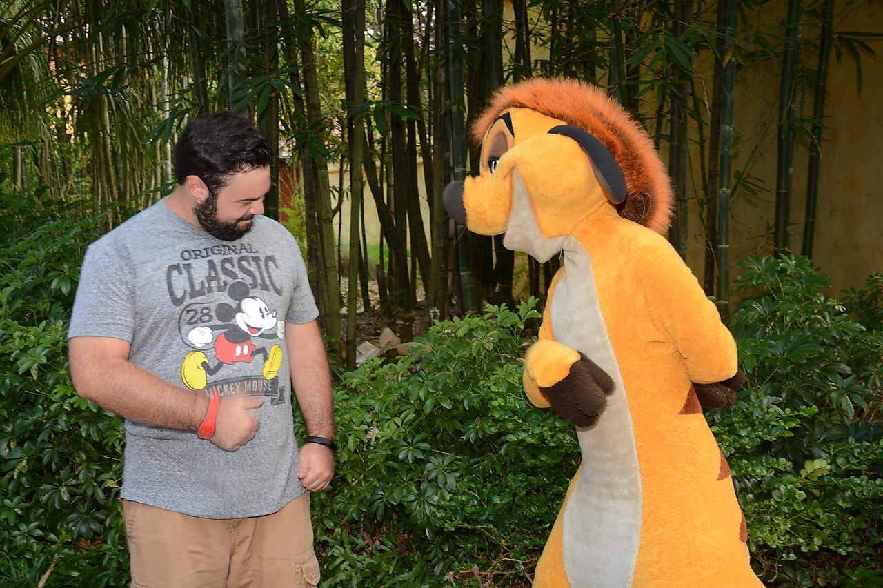 To clarify, I was not dancing with Timon…