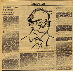 Tex Avery appreciation by Chuck Jones and published in the Los Angeles Times