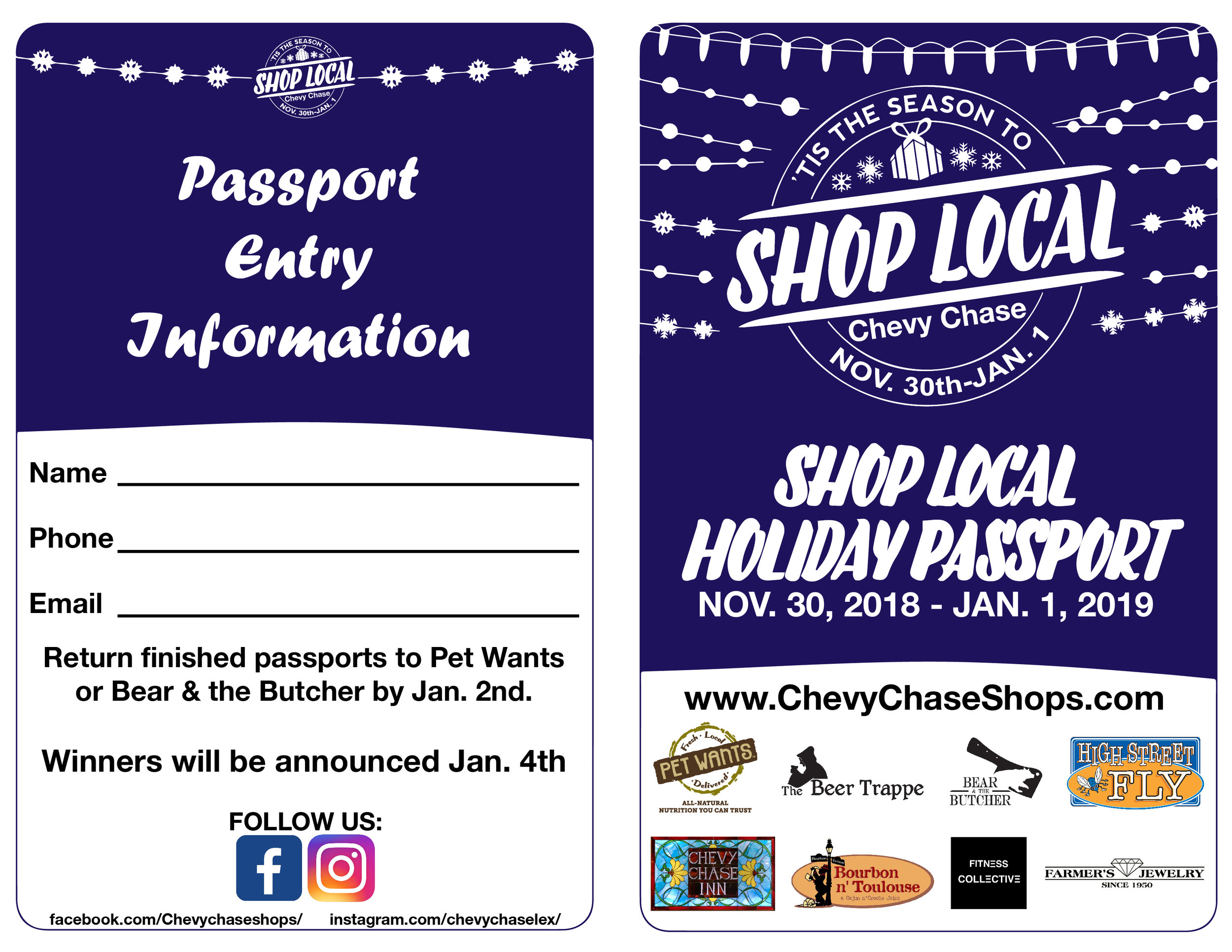Print at home or… - …stop by one of the listed locations to pick up a passport and get your first star!