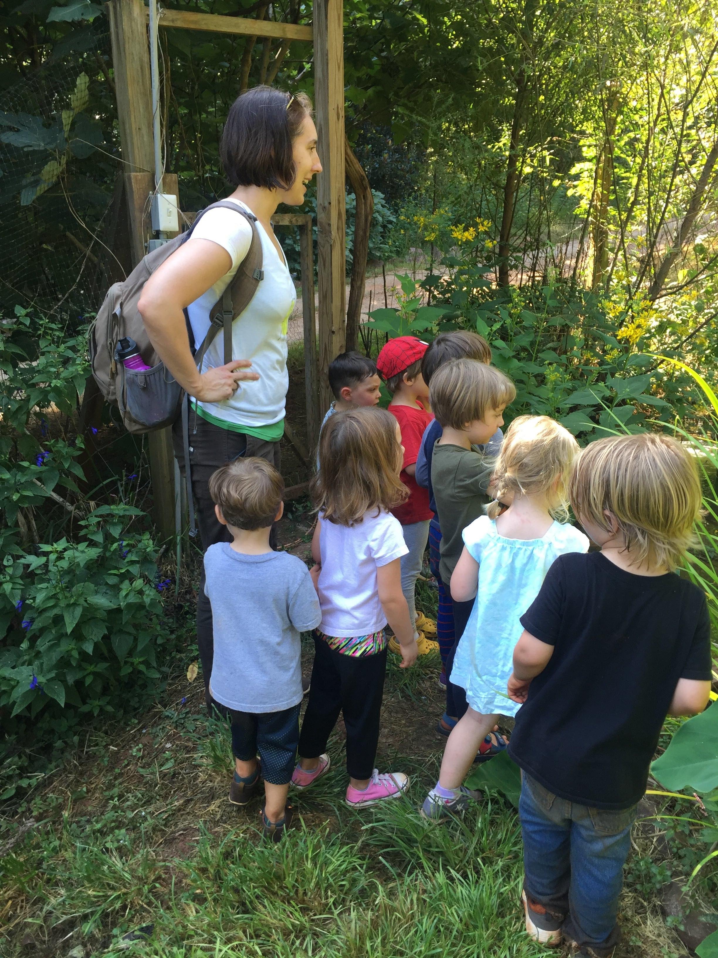 Exploring the garden!