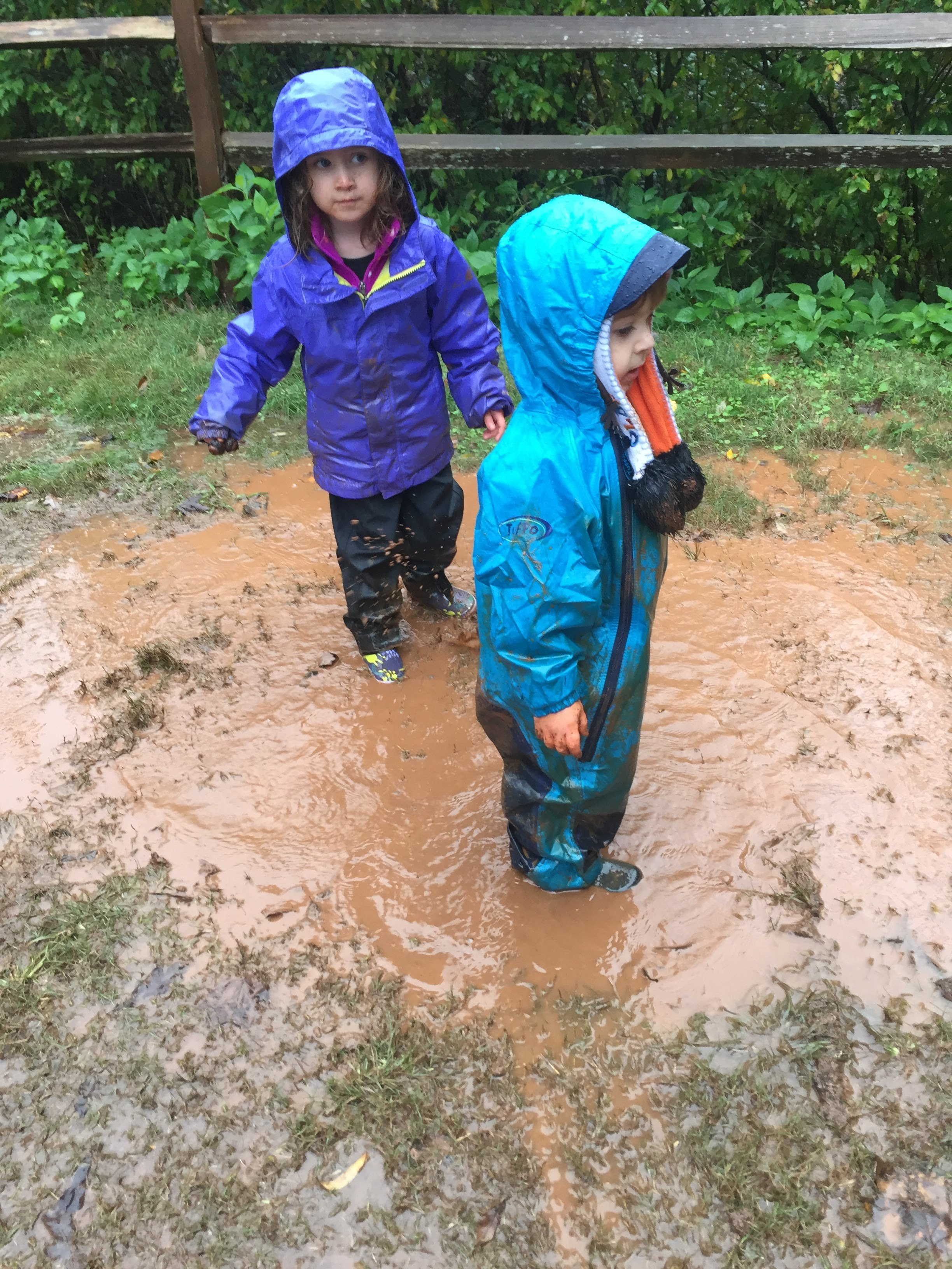 The children dawdled in puddles to delay going inside. Fine by us <3 We love to see this!