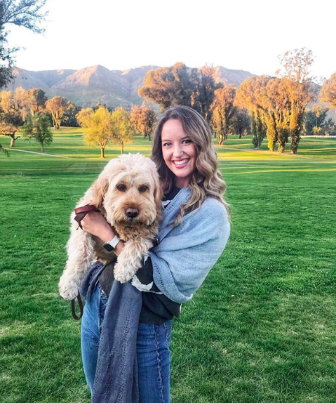 Emily and her dog, Maui