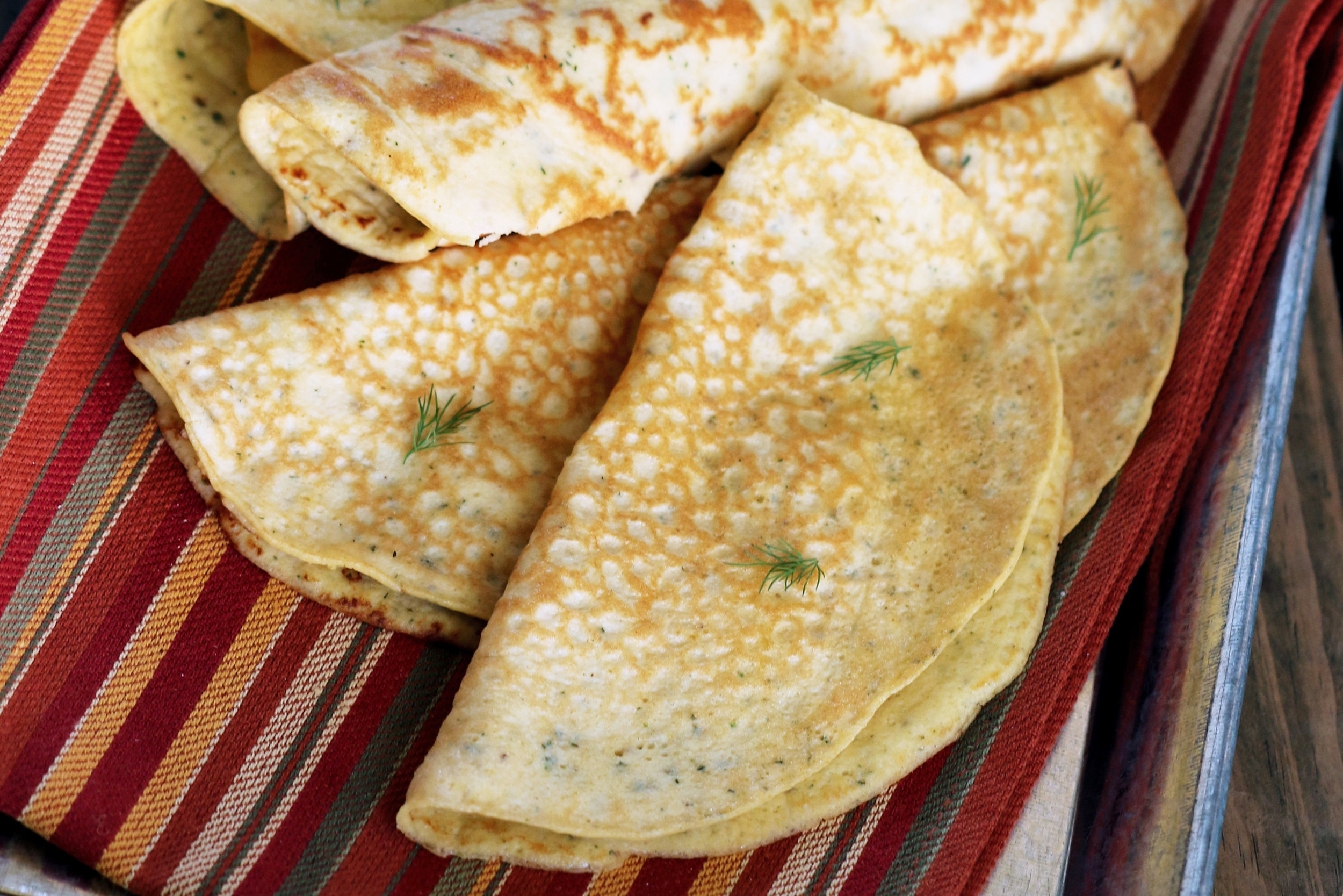 KETO SAVORY CREPES & TORTILLAS