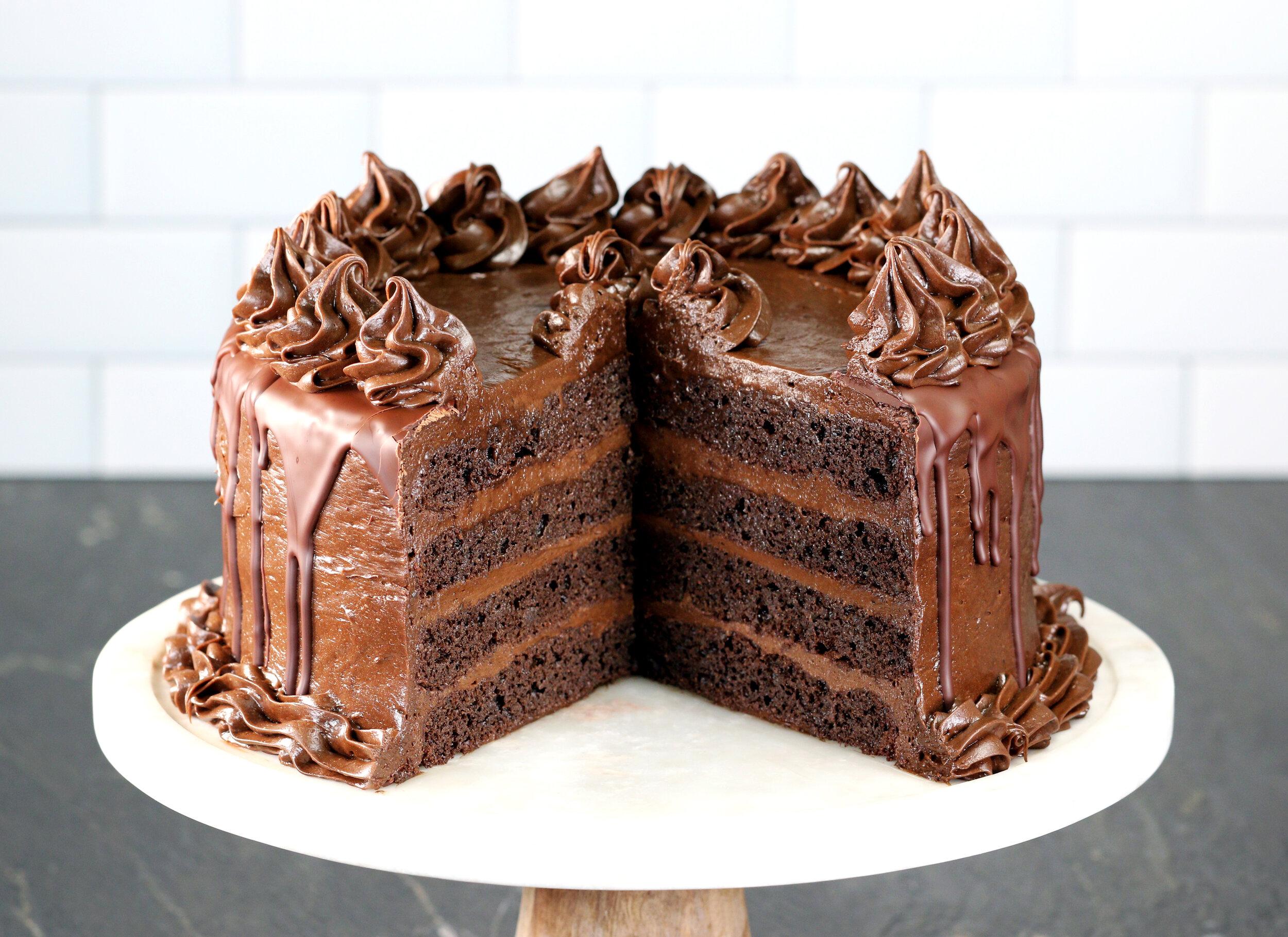 KETO BIRTHDAY CHOCOLATE CAKE