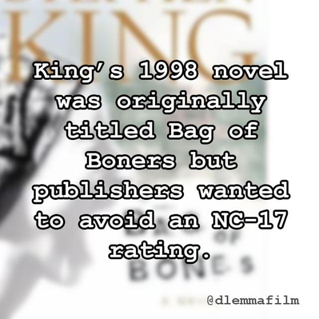 I heard the original was a hard read. #stephenking #bagofbones #writing