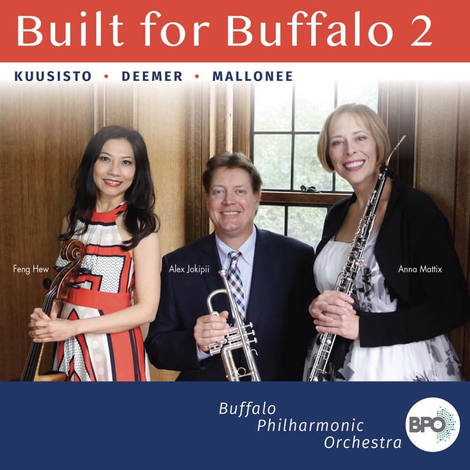 Built FOR BUFFALO 2 released! - Mallonee's cello concerto, Whistler Waves, is included on the BPO's recent CD release, featuring Feng Hew, cello, and JoAnn Falletta, conductor.
