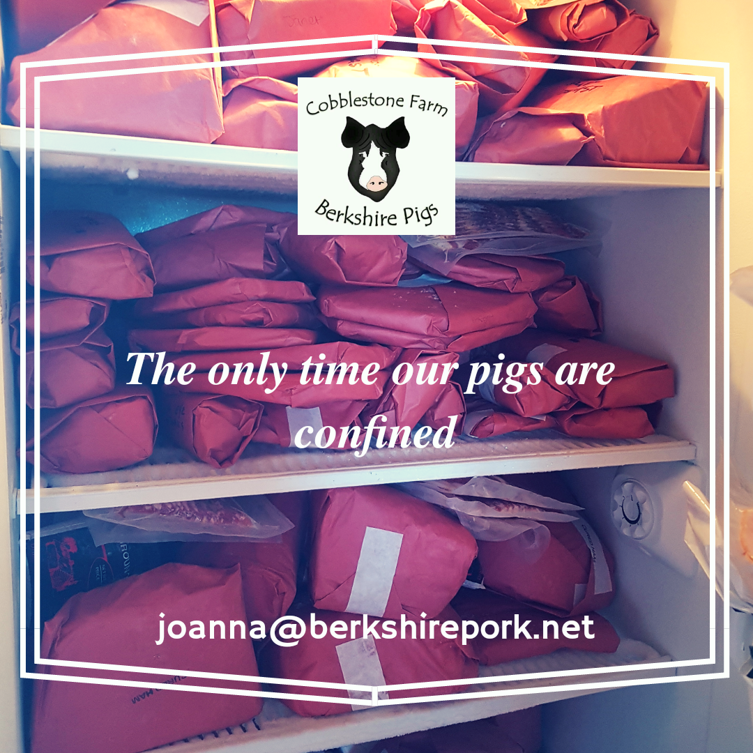 Our processor double wraps the pork, so it will last up to 12 months in the freezer - if you can leave it that long!