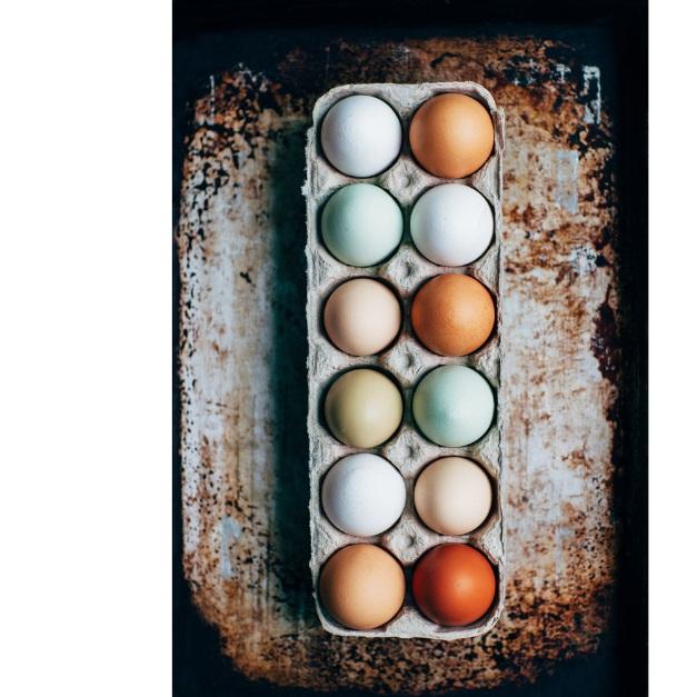 Bring your own egg cartons $6/doz    We supply cartons $6.50/doz