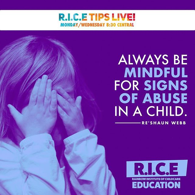 "ProTip: Always be mindful for signs of abuse in a child. . . 🔑 When talking with the child ensure them ""im not gonna be mad & your not gonna get in trouble."" 🧠 Having the knowledge of abuse makes you liable of reporting that information. // Be sure to tune into R.I.C.E tips lives every Monday and Wednesday! . . #education #child #institute #facebooklive #show #knowledge #power #experience #follow #followforfollow #share #abuse #neglect #standup"