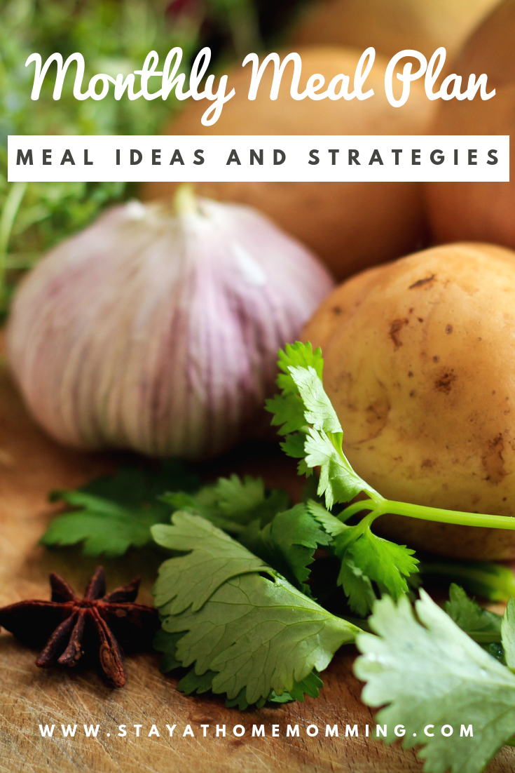 Monthly Meal Plan Ideas and Strategies--Tips for Monthly Meal Plan- Meal Prep made easy